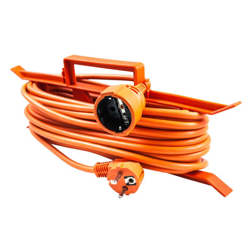 Single portable socket, 20m orange