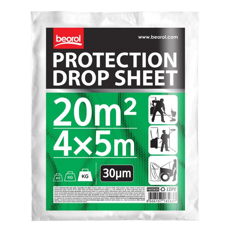 Protection drop sheet 4x5m / (13,1x16,4 ft), 30mic
