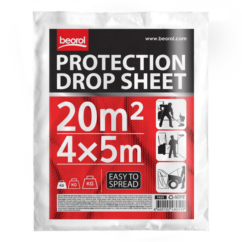 Drop sheet 4x5m (13.1x16.5 ft)