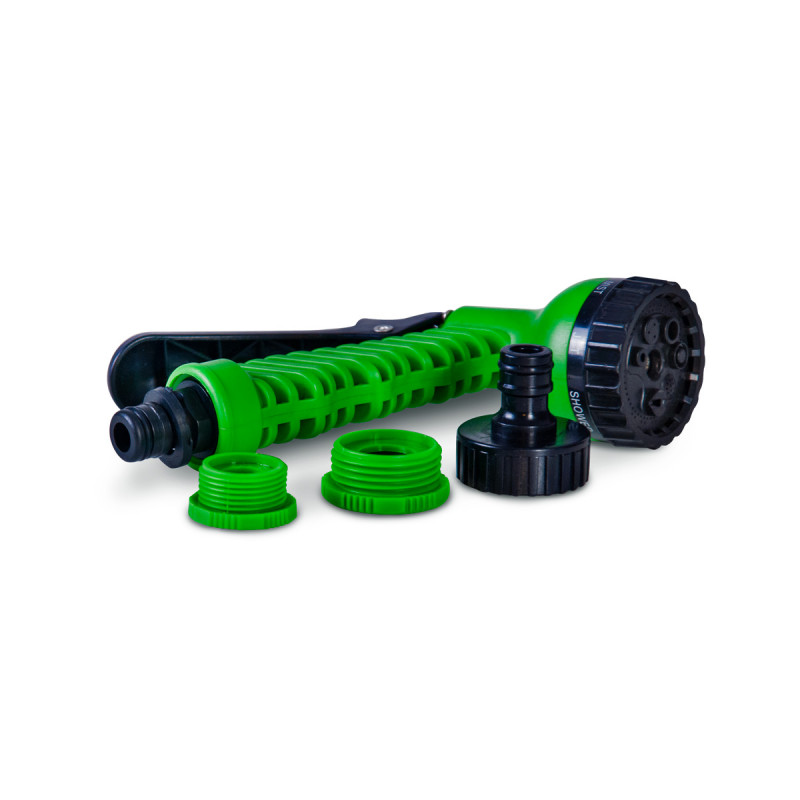 Expandable hose 15m, green