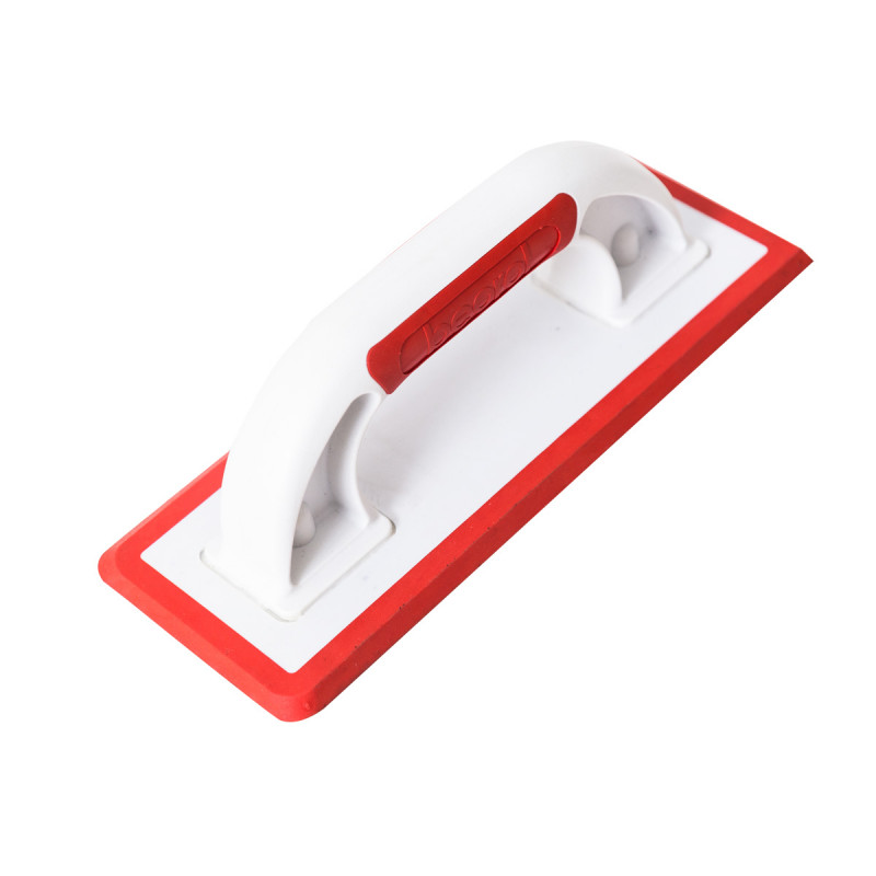 Rubber trowel for grouting