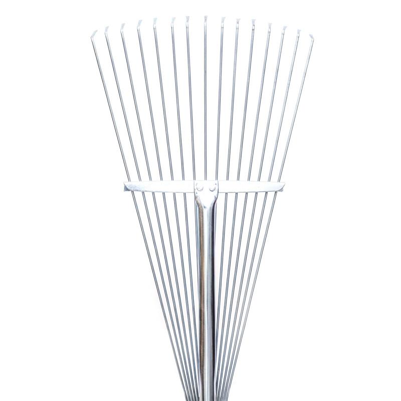 Garden leaf rake metal (fordable)