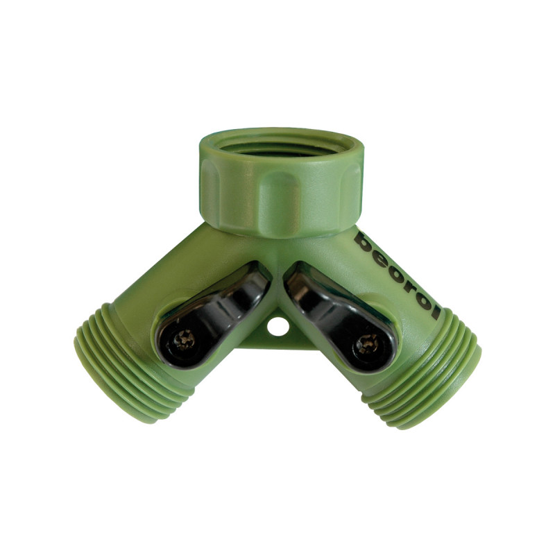 Plastic 2-way hose connector, 3/4