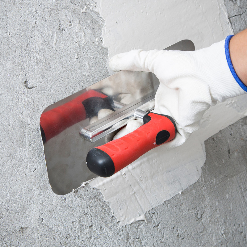 Plastering trowel rubber-plastic handle, 240x100m