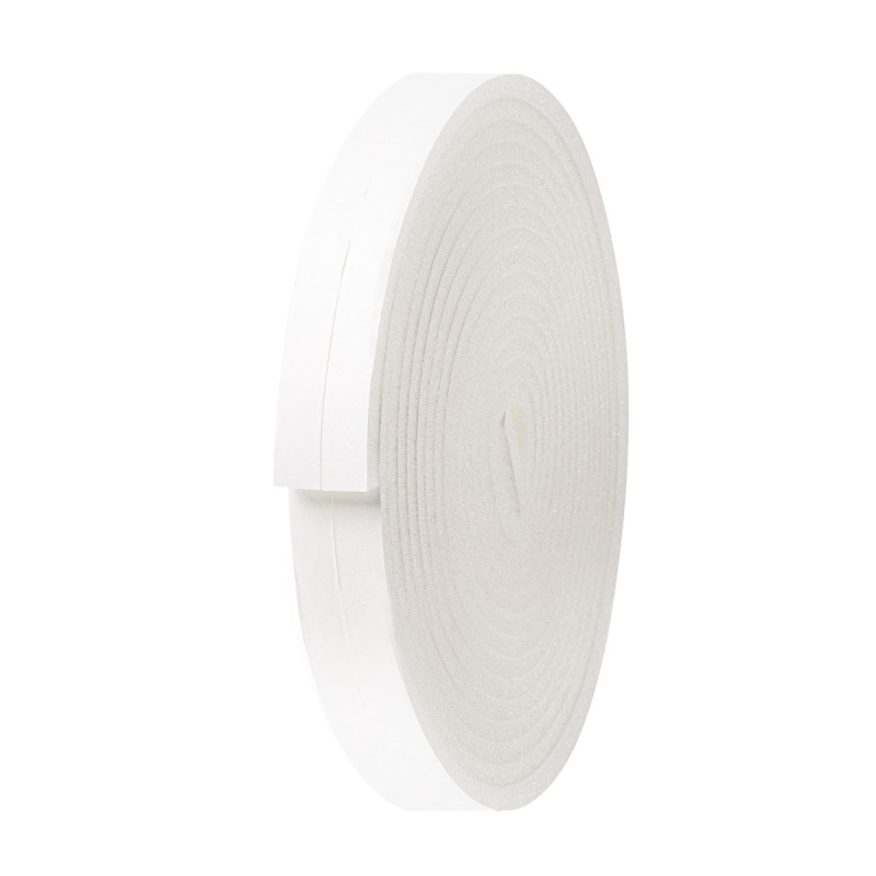 Adhesive foam draught excluder for doors and windows