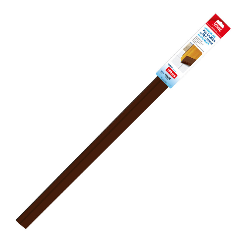 Adhesive PVC draught-ex with felt for the door 1m brown