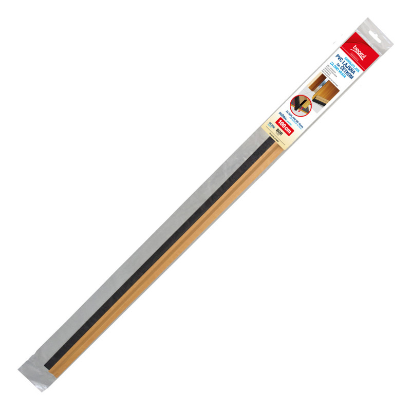 Adhesive PVC draught-exwith brush for the 1m pine