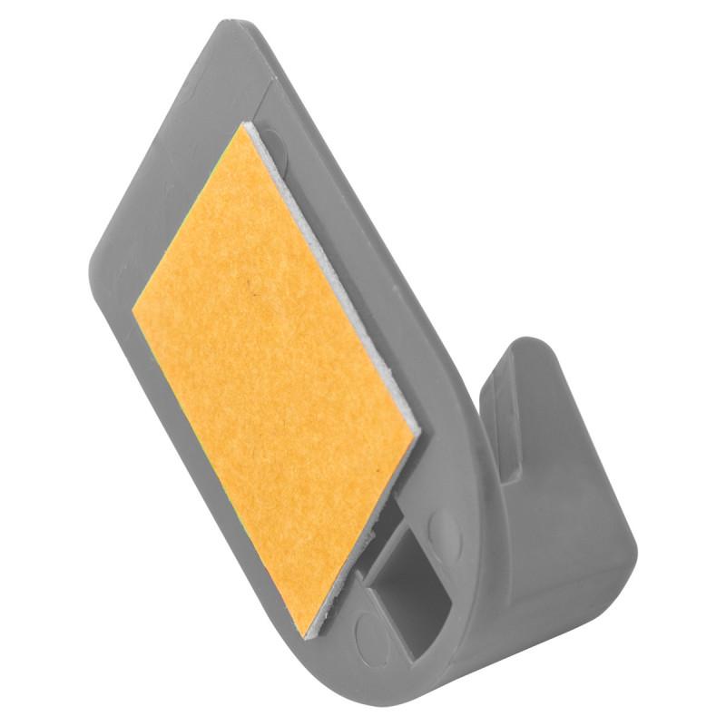 Plastic wall hooks 3/1 gray