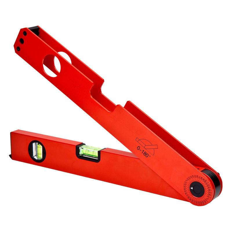Tape angle measuring spirit level 180Ëš