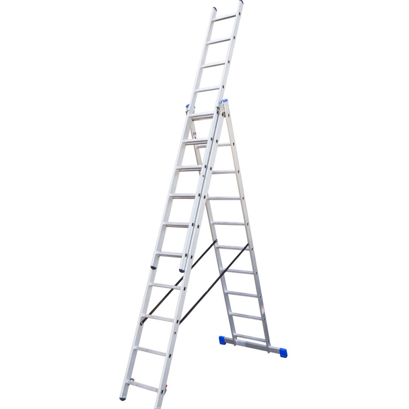 Combination aluminium ladders, 10 steps