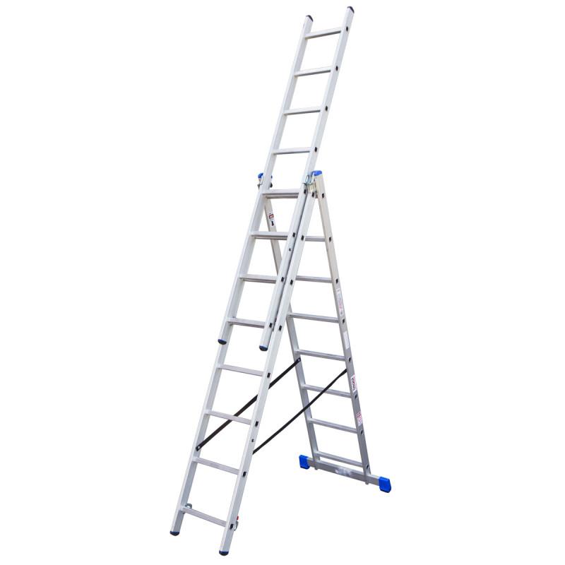 Combination aluminium ladders, 8 steps