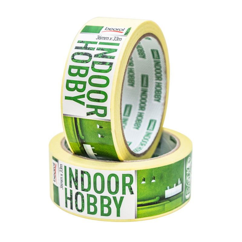 Masking tape Indoor Hobby 36mm x 33m, 60ᵒC