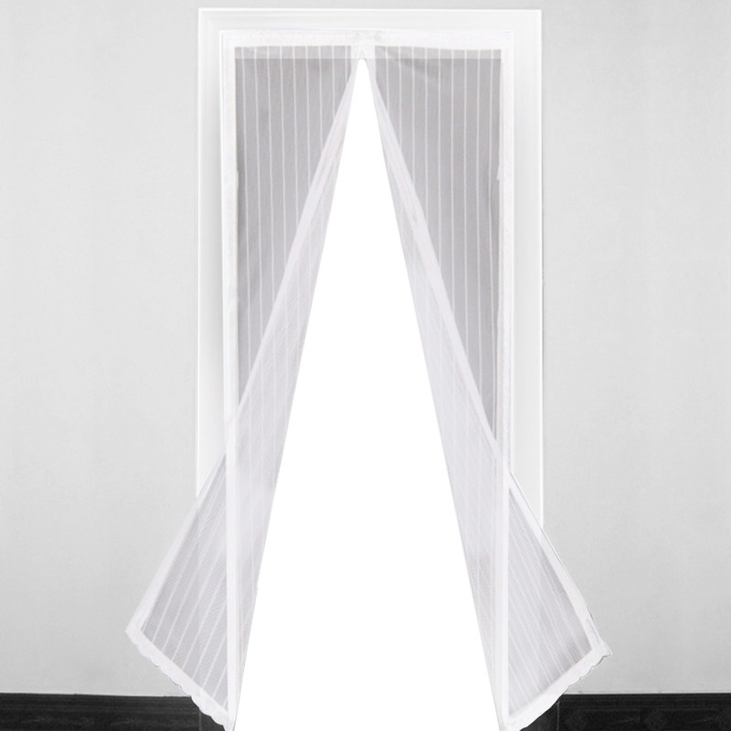 Magnetic door curtain, white