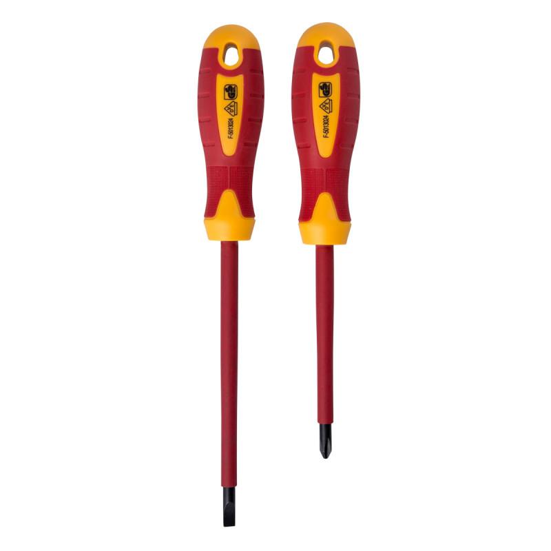 VDE insulated screwdriver set, 2pcs