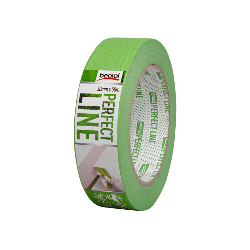 Masking tape Perfect line 30mm x 50m, 80ᵒC