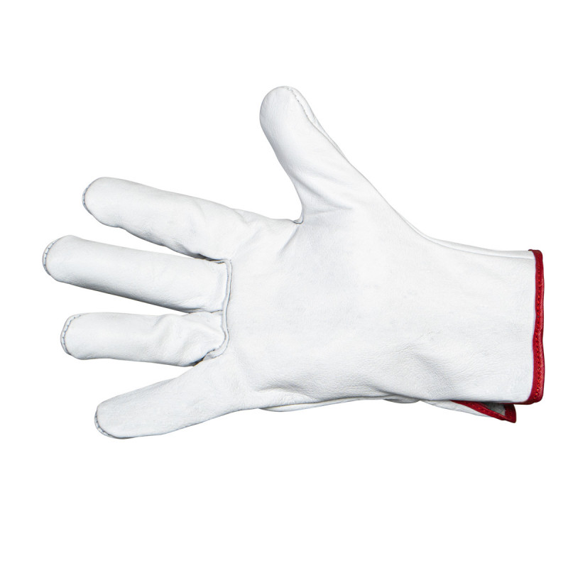 Household glove with flock lining, premium