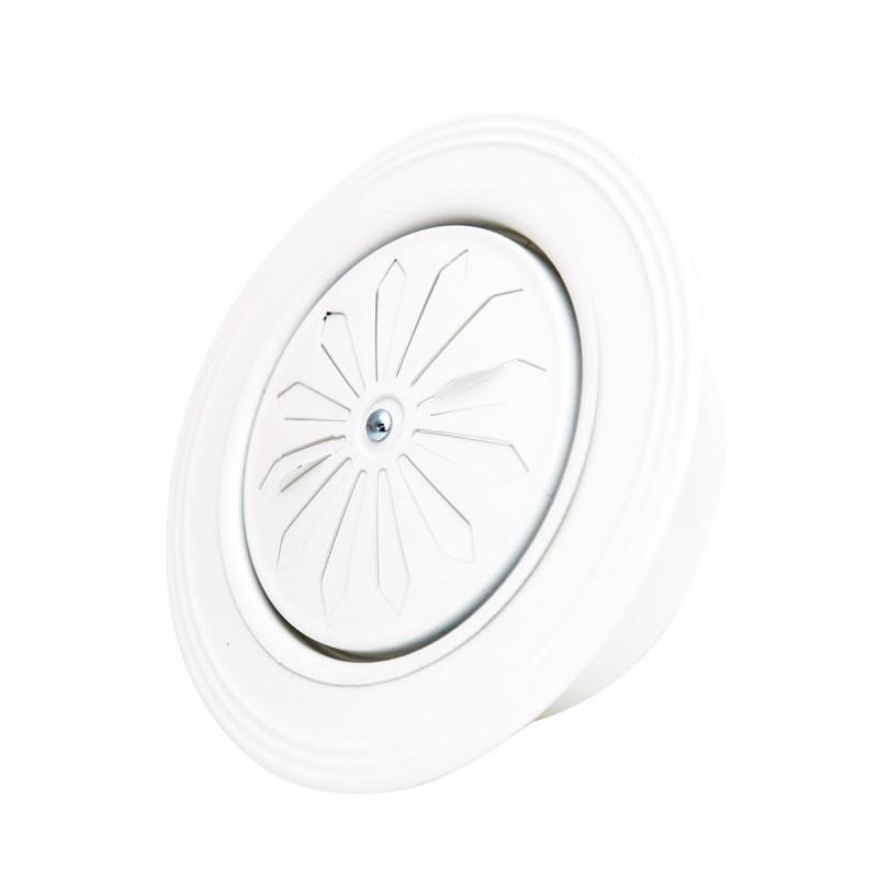 Ventilation rosette white ø119 round