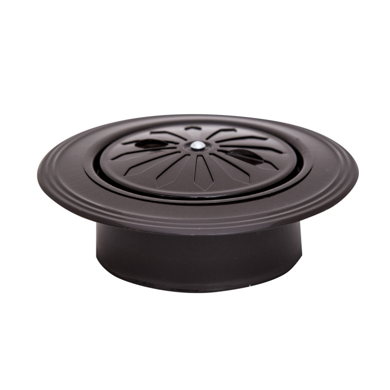 Ventilation rosette brown ø119 round