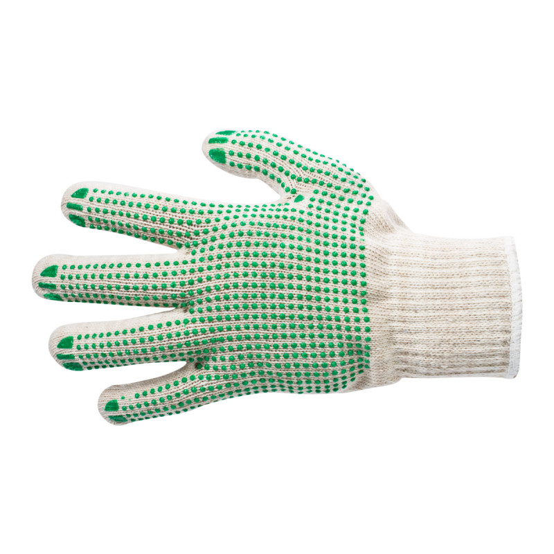 Gloves for packing - one side dotted