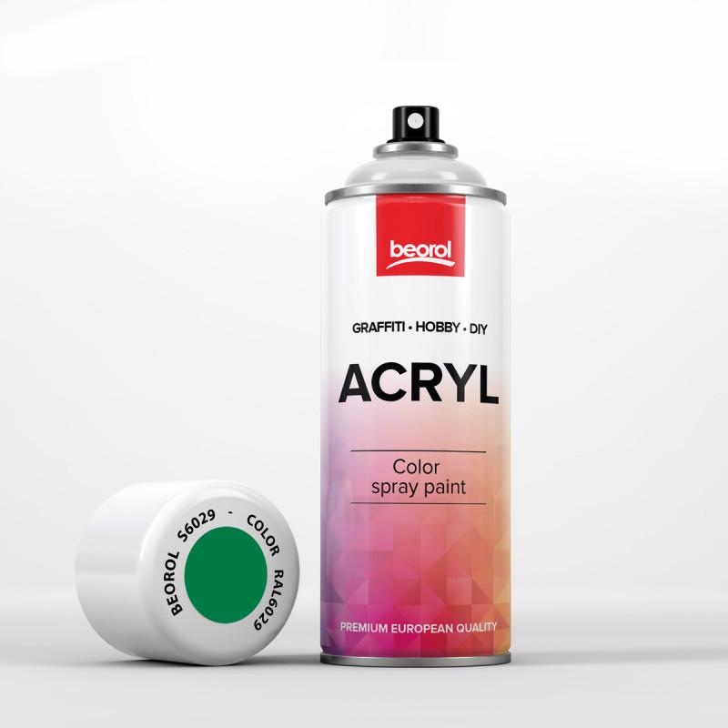 Spray paint green Verde RAL6029