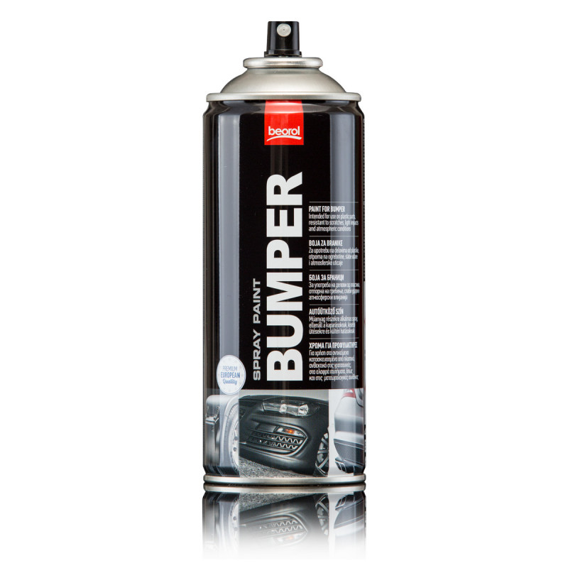 Paint spray for bumpers and spoilers, black F13000