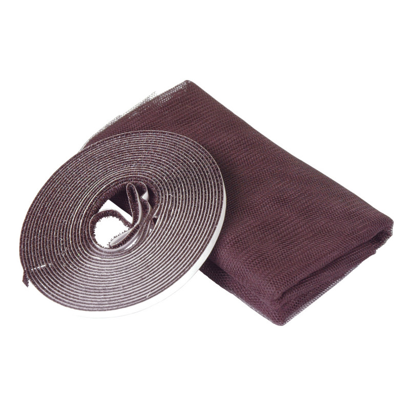 Selfadhesive insect net 100x130, brown
