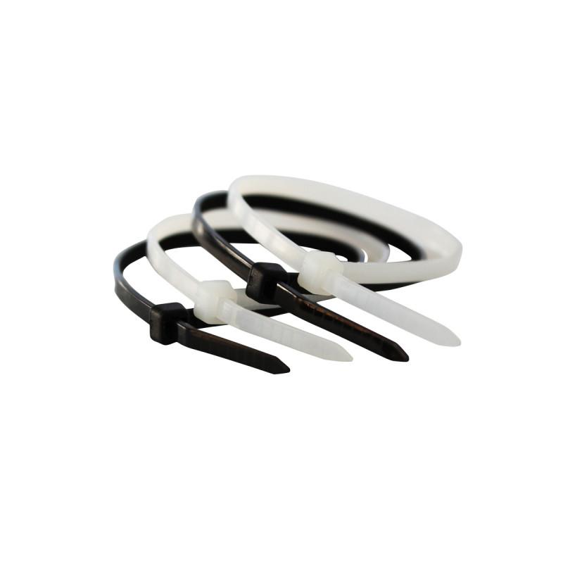 Plastic tie black 7.2x300mm 50 pcs.