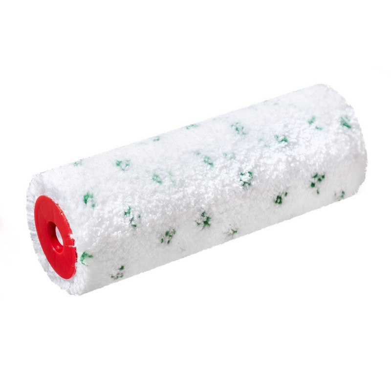 Paint roller microfiber Green dot 23cm  Ø8 charge thermofusion